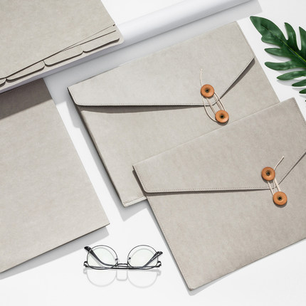 Washable Kraft Paper Fabric A4 Document Bag Multi Pocket File Folder A4 Paper Organizer Bag For Documents