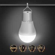 LED Solar Lamp 15W Solar Light USB 5V 8V Outdoor Solar Panel Charging Bulb 250LM Waterproof Useful Portable Energy Conservation