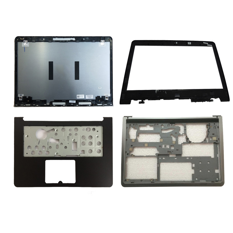 NEW shell For Dell Inspiron 14 5000 5447 5445 5448 LCD Top Cover/LCD front bezel/Palmrest Upper no Touchpad/bottom case cover laptop lcd top cover for hp probook 450 455 g2 lcd front bezel palmrest upper with touchpad bottom case cover 791689 001