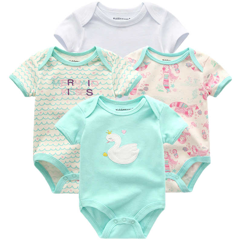 4pcs/pack 0-12m short-Sleeve Baby body suits Infant cartoon bodysuits for boys girls jumpsuits Clothing 2020 newborn clothes