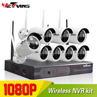 Wifi NVR Surveillance Kit Plug Play P2P 8CH 2 0MP HD 1080P 20m Night Vision Waterproof