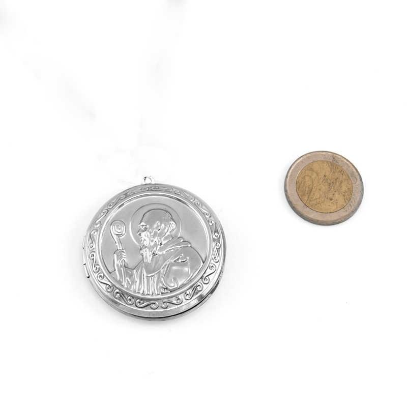 Risul San Benito ojciec medaliony duży rozmiar Medal świętego benedykta wytłoczenia styl ze stali nierdzewnej stali nierdzewnej dobrej jakości medaliony 5 sztuk