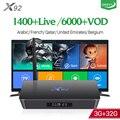 X92 Android 7.1 France IPTV Box 4K 3GB 32GB Amlogic S912 IPTV Europe Italia IPTV 1 Year QHDTV Belgium French Arabic IPTV Top Box
