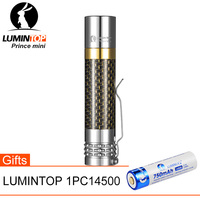 LUMINTOP Prince MINI Powerful LED Flashlight Waterproof Torch CREE XP L HD With Premium Carbon Fiber