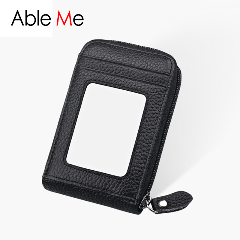 High Quality Leather Pillow Card Holder Wallet Portable Business ...