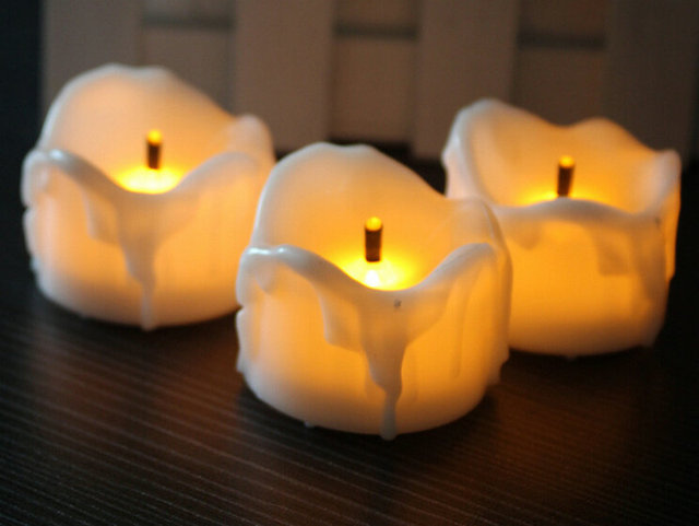 240pcslot Flameless Led Tea Light Candle Wtimer Burnt Wick Melted