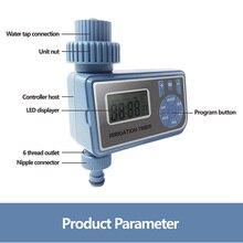 Sistema controlador de irrigação jardim rega temporizador eletrônico automático inteligente digital temporizador água casa