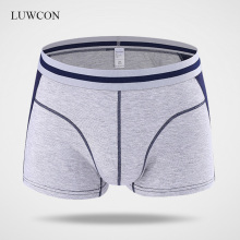 LUWCON 4Pcs/lot Modal Mens Underwear Boxer Shorts Patchwork Comfortable Panties Multi-color Plus Size
