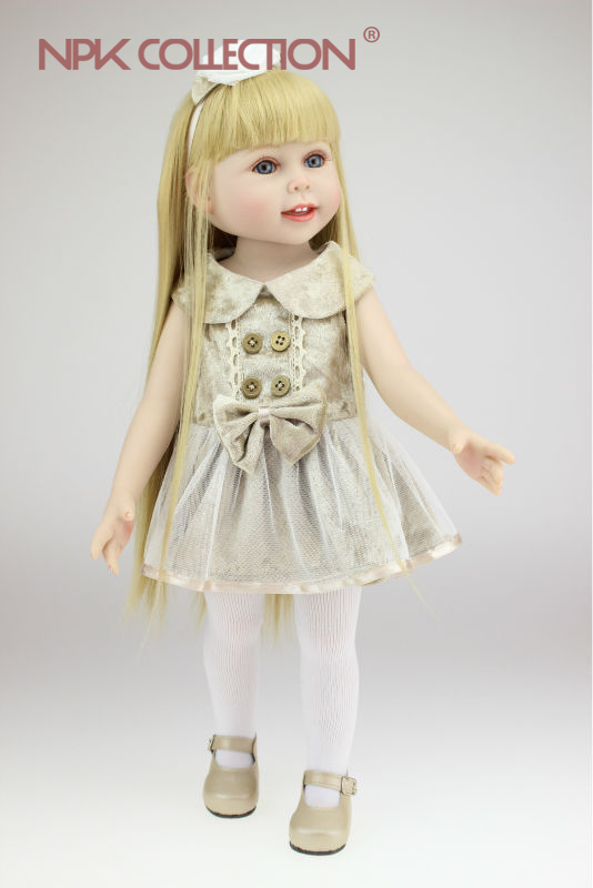 NPKCOLLECTION free shipping 18inches American girl doll Journey Girl Dollie& me fashion silicone reborn babies birthday gift 2015new 18inches american girl doll journey girl dollie