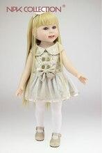 Muñeca reborn  45 cm con vestido de fiesta