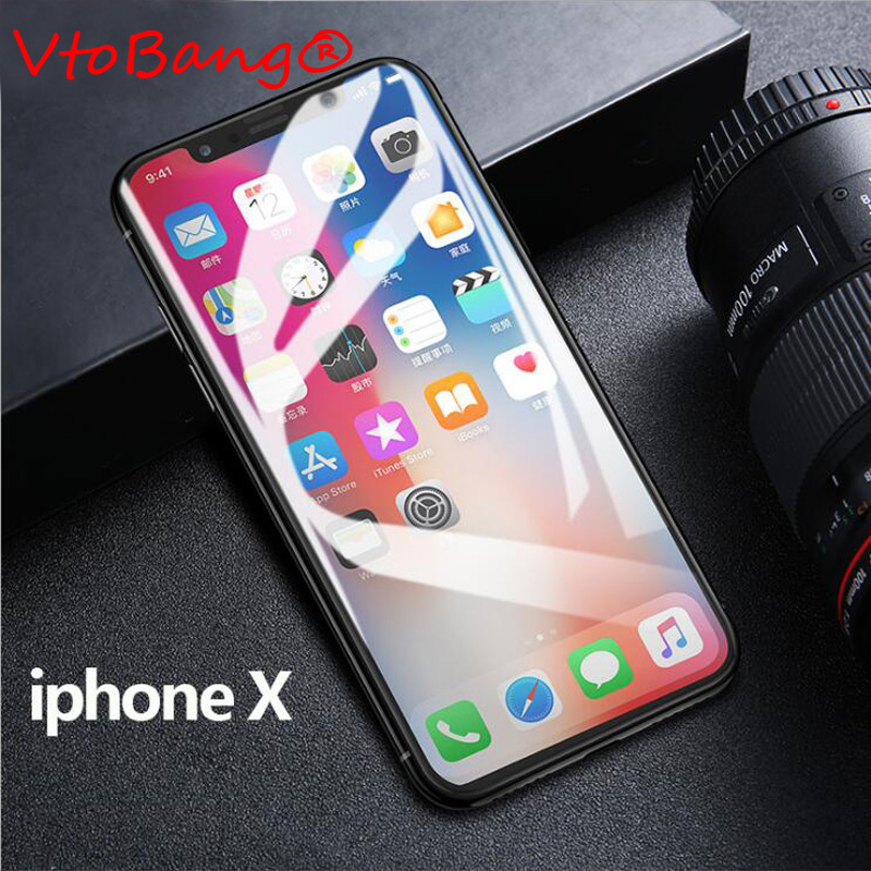 For iPhone X Tempered Glass Full Coverage 3D 5D Curved Round Screen Protector Protective Glass for IphoneX 5.8'' inch
