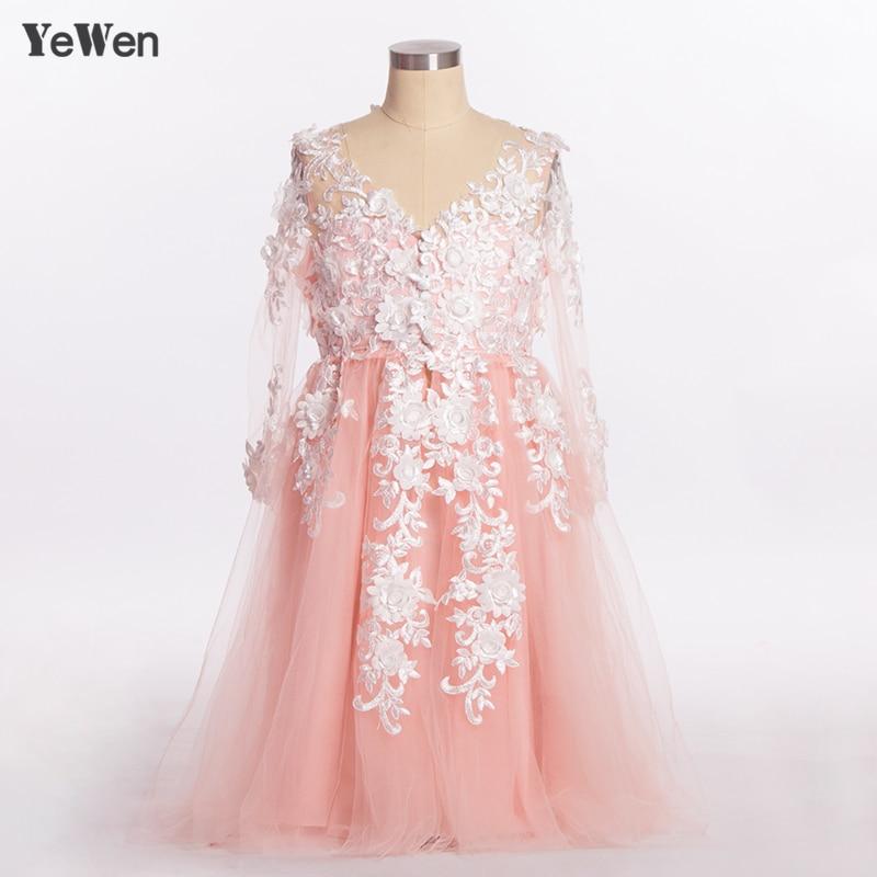 YeWen 2019   Flower     Girl     Dresses   first communion   dresses   for   girls   Lace Floor length party tulle   dress   Princess   Flower     Girl     Dress