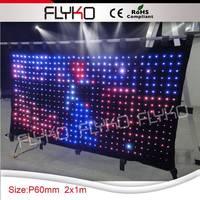 free shipping dj equipment dj light fireproof led video curtain