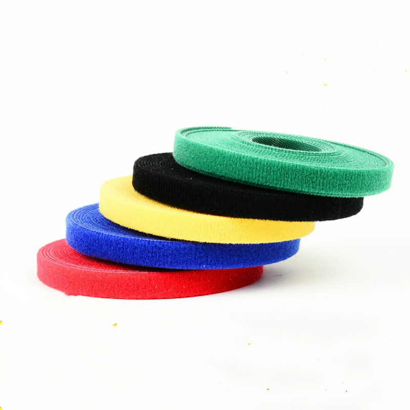 Hot Sale 25M Length /2CM Width Nylon Cable Tie Self-gripping Strap Stick Ties Computer PC TV Wire Management magic tape