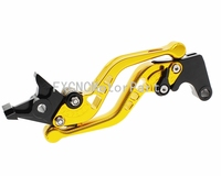 Gold 3D Short Pair CNC Motorcycle Brake Clutch Lever For Honda CBR 600 F F2 F3