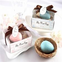 Bird Egg Modelling Small Boxed Soap Handmade Home Baby Birth Shower Bath Soap Unique Souvenirs Scented Wedding Gift Party Favors(China)