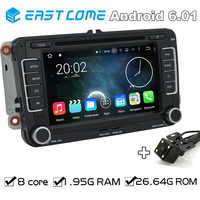 Octa Core 2 Din Android 6.01 Car DVD For VW PASSAT CC (2008 to 2013) PASSAT (2005 to 2013) Golf 5 Golf 6 With Parking Camera BT