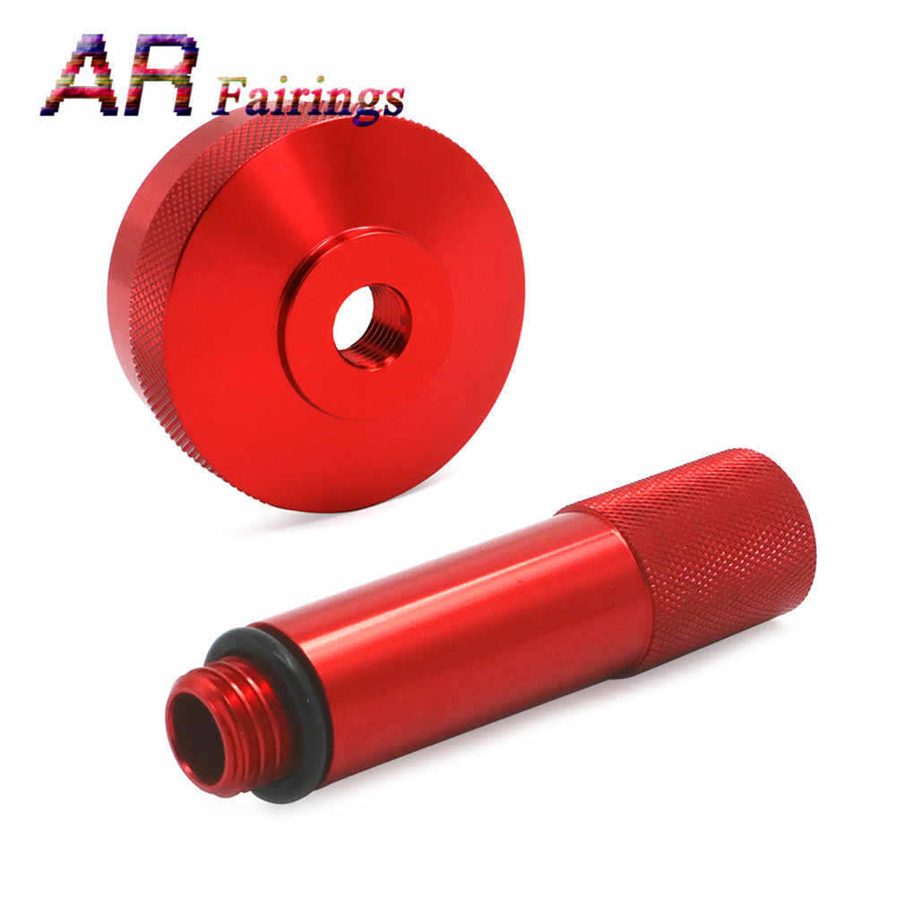 Red Red Aluminium Alloy Extended Run Gas Cap Adapter Mess Free Oil Change Funnel Magnetic Tip Dipstick Oil Dip Stick Fit for Honda Generator EU2000i EU20i