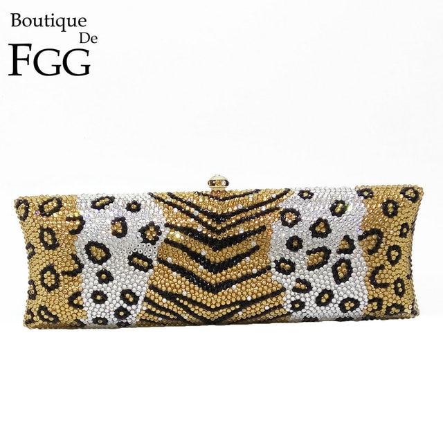 Gift Box Womens Vintage Clutch Evening Minaudiere Bag Geometric Crystal Day Clutches Women Bags Fashion Diamond Handbag Brand