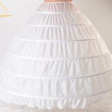 Новое бальное платье больше 6 Нижняя юбка с кринолином белое свадебное платье для бальных платьев платья кринолин нижнее белье QA995