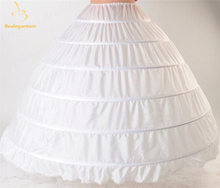 New Ball Gown Bigger 6 Hoops Petticoat White Bridal For Wedding Dresses Quinceanera Dresses Crinoline Underskirt QA995