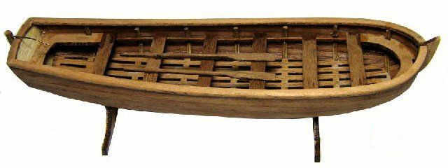 NIDALE model Scale 1/50 Classic ancient sail boat model Russian Ingermanland 1715 180mm General lifeboat wooden model kit