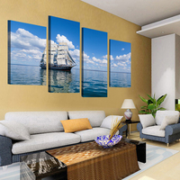 4 Pcs Wall Art HD Ocean sailing Modern Picture Print On Canvas Oil Paintings Home Decoration For Living Room canvas painting