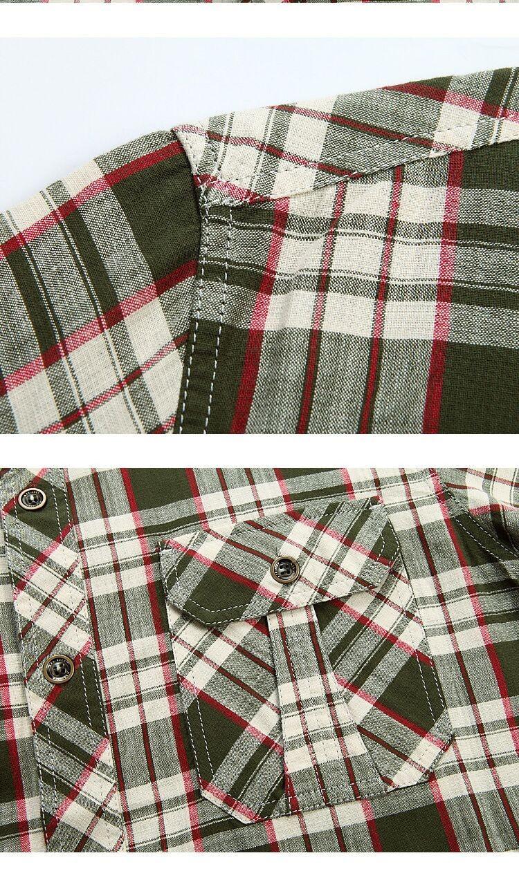 3XL 4XL 5XL 2015 Summer Plaid Men Cotton Short Sleeve Dress Shirts Camisa Hombre Patchwork Blouse Vestido Men Clothes Casual (5)