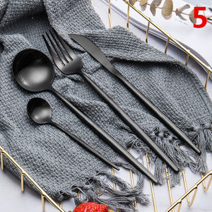 4pcs /set of 304 color stainless steel cutlery set Four sets of restaurant cutlery set Steak knife set cutlery gift box