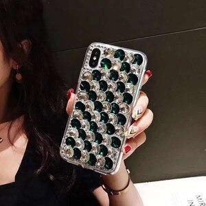 Image 5 - Etui na telefon xiaomi 10 9 MAX3 5X 6X Redmi 5 6 7 4A 6A 8A uwaga 4X 5A 7 6 8T 8 Pro luksusowe dżetów błyszczący pokrowiec pokrywa kryształ