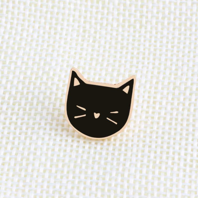 2 Pcs/set Hot Kartun Lucu Kucing Enamel Bros Pin Lencana Perhiasan Dekoratif Gaya Bros untuk Wanita Hadiah