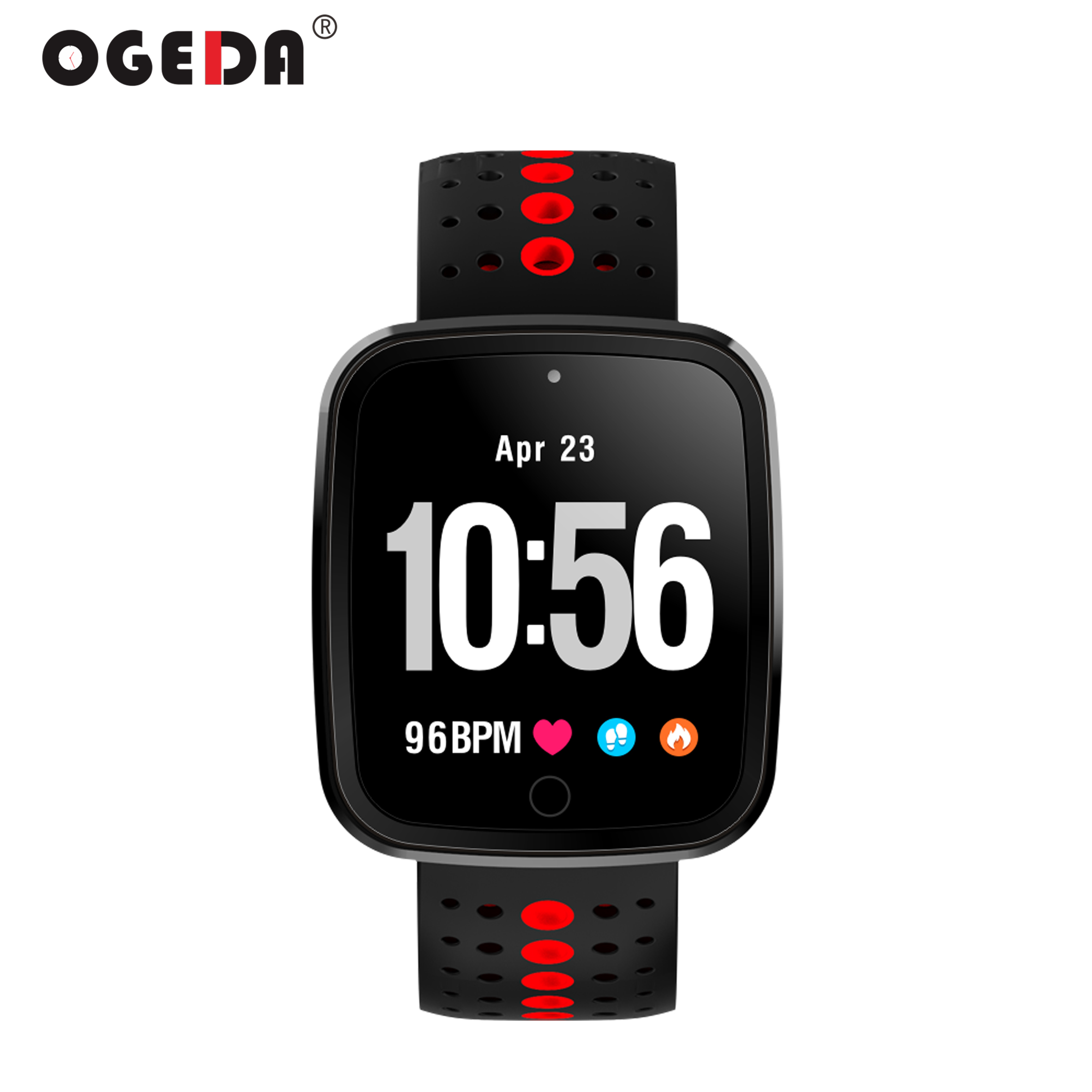 OGEDA Sports Men Smart Watch Intelligent Fitness Tracker Smart Wristband Bracelet for Android IOS Heart Rate Monitor Color OLED id115 smart watch fitness sport wristband watch for ios android iphone heart rate monitor tracker men women watch oled bracelet