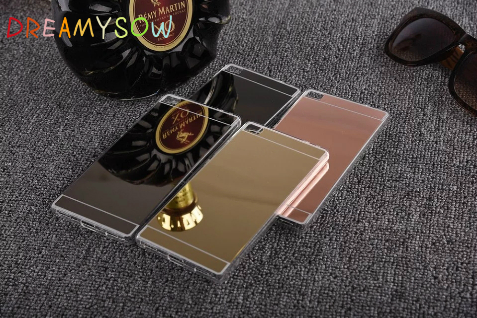 Colorful Glossy Phone Back Cover Cases Electroplated Acrylic Mirror Case For Huawei P9 P8 Lite 2015/7 Honor 7 P9 Lite mini