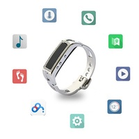Bluetooth Health Smart Bracelet Wrist Band Y3 Diamond and Metal Strap with Music Player Phone Call for Women Girl Lady