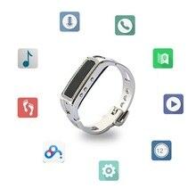 Bluetooth здоровья смарт-браслет на запястье Y3 алмаз и металлические планки с плеера телефонный звонок для женщин леди