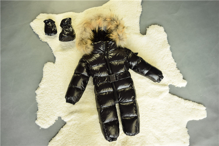2017 Winter Baby Romper Clothes Newborn Duck Down Baby Overalls Infant Snow Wear Snowsuit Big Fur Collar 0-3Y Boy Girl Jumpsuit 2 5 years russian winter baby white duck down rompers with real fur hood outdoor skit snowsuit girls clothing infant boy romper