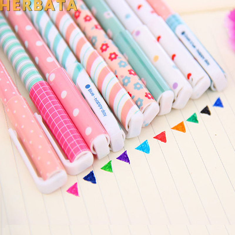 5 Pcs/lot Color Gel Pen Kawaii Stationery Korean Flower Canetas Escolar Papelaria Gift Office Material School Supplies Student