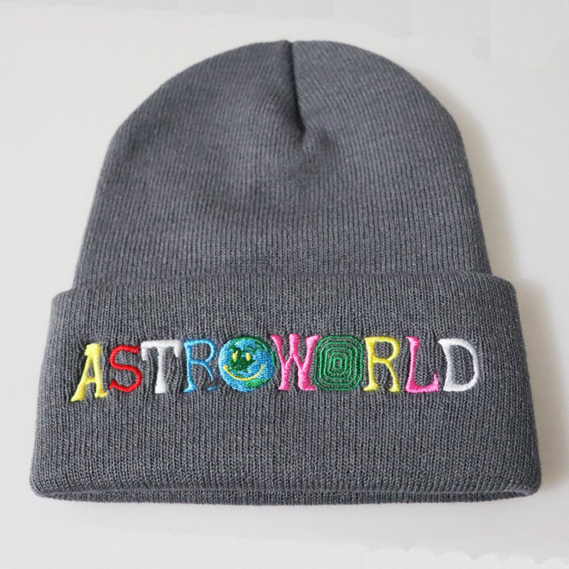 Astroworld WISH YOU WERE HERE Hat Cosplay Travis Scott Beanies Cap Knitted  Embroidery Hip Hop Hats Winter for Men Women-in Boys Costume Accessories  from ... bdceb38eafeb