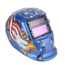 Pro Solar Auto Solar Máscara de Soldadura Casco Arco Tig Mig Soldador Máscara Equipo De Molienda de AMERICAN EAGLE