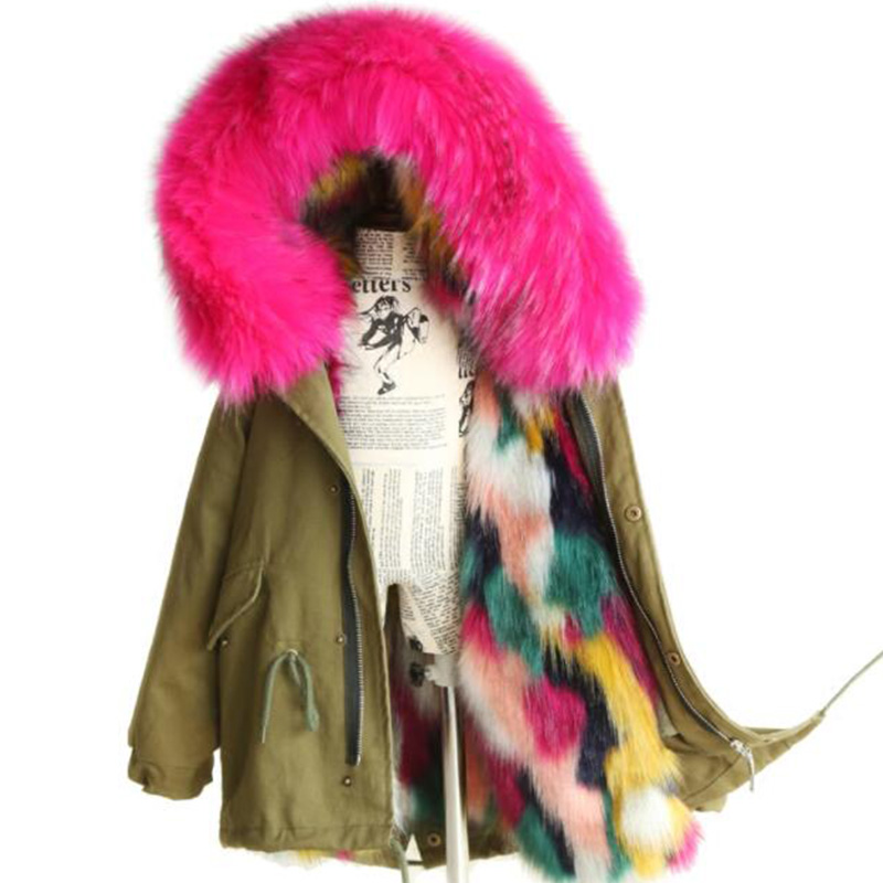 Girls Winter Coat Faux Fox Fur Outerwear 2018 New Kids Jackets Coats Removable Fox Fur Liner Children Thick Warm Hooded Coat 2017 girls fur coat parkas winter big fur collar kids jackets coats removable fox fur liner children thick warm hooded outerwear