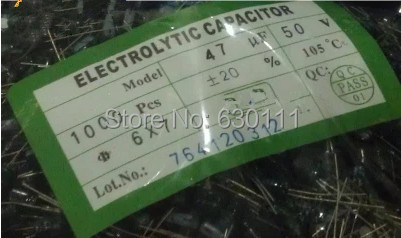 Free shipping 1000pcs 47UF 50V  105C 6*7mm Aluminum Electrolytic Capacitor 50V47UF