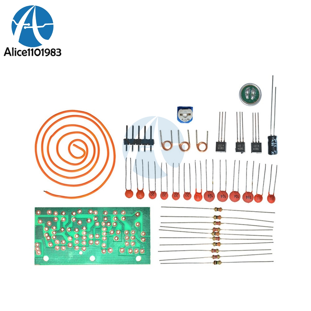 Online Shop Fm Radio High Frequency Wireless Microphone Diy Kits Mic 9v Transmitter Circuit Wiring Diagrams Board Sound Electrical Siganl Transform Module Antenna 80mhz 103mhz Aliexpress Mobile