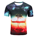 SYJON Space Galaxy T-shirt Men/Women Harajuku Hip hop Brand T-shirt 3d Print Nightfall Tree Summer Tops Tees T shirt dropship