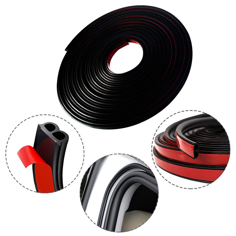 Image 2 - Car Accessories Door Rubber Seal Strips Sticker For Mitsubishi Asx Lancer 10 9 Outlander 2013 Pajero Sport L200 Expo Eclipse-in Car Stickers from Automobiles & Motorcycles