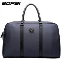 BOPAI Brand Men Travel Bags Messenger Handbag Shoulder Bag Male Casual Fashion Business Laptop Color Blue
