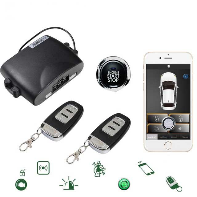 Pour Audi Smartphone système d'alarme de voiture à distance verrouillage Central Ios/Android application Mobile coffre ouvert PKE moteur sans clé démarrage arrêt Kit