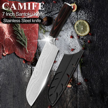 Stainless Steel Kitchen Knife Japanese Style Cook's Kitchen Knife Meat Cleaver Santoku Nakiri Knife Chef Knife Tools Accessories(China)