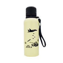 420ML Creative Double wall stainless steel Thermal insulation water bottle Army fans Outdoor Sports