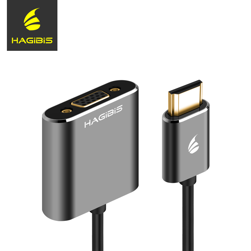 Hagibis HDMI to VGA Adapter Digital to Video Audio Converter HDMI VGA Connector Cable for PC Laptop TV Box With Power Supply