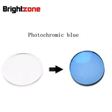 Mükemmel kalite Rx lensler 1.56 fotokromik mavi HMC UV AR CR39 reçine gözlükler reçete lensler sadece miyopi/astigmatizm